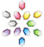 Hexagon star pattern Stock Photography