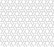 Hexagon star seamless pattern Stock Photography