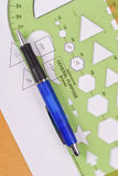 Hexagon Stencil Measurement Stock Photos