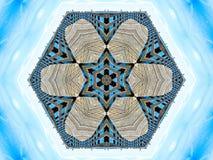 Hexagon Sterren en Bloemblaadjesontwerp royalty-vrije illustratie