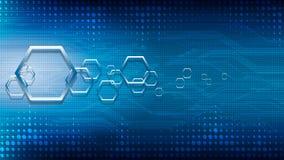 Hexagon-Stromkreishintergrund des Vektors abstrakter technologischer Lizenzfreie Stockbilder