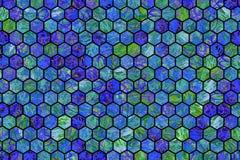Hexagon strook kleurrijk patroon, textuur voor ontwerpachtergrond stock afbeelding