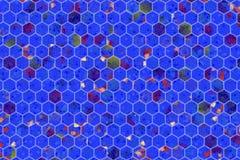 Hexagon strook kleurrijk patroon, textuur voor ontwerpachtergrond royalty-vrije stock foto
