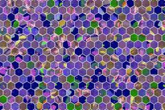Hexagon strook kleurrijk patroon, textuur voor ontwerpachtergrond stock afbeeldingen