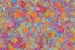 Hexagon strook kleurrijk patroon, textuur voor ontwerpachtergrond royalty-vrije stock foto's
