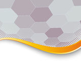 Hexagon structure background gold border Stock Image
