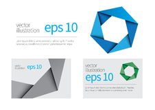 hexagon symbol and business card royalty free stock photo
