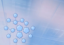 Hexagon system Stock Images