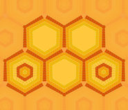 Hexagon text template of yellow and orange colors Stock Photography