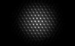 Hexagon texture background. Illustration of a simple hexagon shapes background with metallic gradient. Technological feel Royalty Free Stock Image