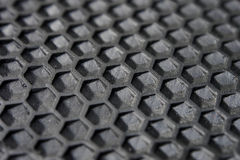 Hexagon Texture of black rubber. Stock Photography