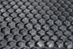 Hexagon Texture of black rubber. Royalty Free Stock Image
