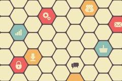 Hexagon Texture Stock Image