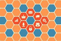 Hexagon Texture Stock Photography