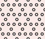 Hexagon texture, vector monochrome seamless pattern, perforated Stock Photos