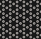 Hexagon texture, vector monochrome seamless pattern, perforated Royalty Free Stock Photography