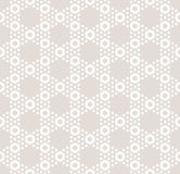 Hexagon texture, vector seamless pattern in pastel colors, beige Stock Image