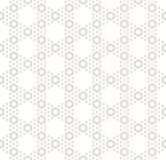 Hexagon textuur, vector naadloos patroon in beige pastelkleuren, Stock Foto