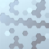 Hexagon tile background template Royalty Free Stock Image