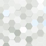 Hexagon tile transparent background Stock Images