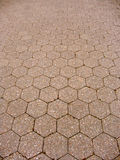 Hexagon tiled floor Royalty Free Stock Image
