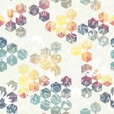 Hexagon triangle flower Royalty Free Stock Photography