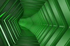 Hexagon Tunnel Royalty Free Stock Image