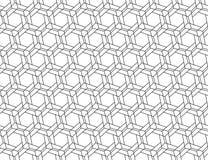 HEXAGON-UND ÜBERFAHRT-LINES NAHTLOSES VEKTOR-MUSTER lizenzfreie abbildung