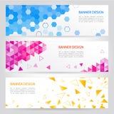 Hexagon- und Dreiecknetzfahnen Lizenzfreie Stockfotos