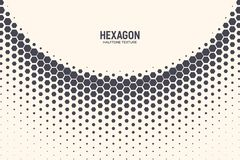 Hexagon Vector Abstract Technology Background. Hexagon Shapes Vector Abstract Geometric Technology Curved Structure Isolated on Light Background. Halftone Hex royalty free illustration