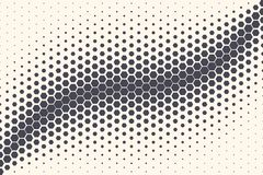 Hexagon Vector Abstract Technology Background. Hexagon Shapes Vector Abstract Geometric Technology Oscillation Wave Isolated on Light Background. Halftone Hex stock illustration
