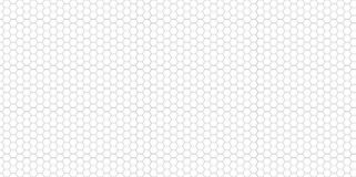 Hexagon Pattern in greyscale, panoramic format. Hexagon Vector Background Pattern in greyscale, panoramic format Royalty Free Stock Photography
