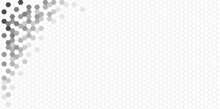 Hexagon Pattern in greyscale, panoramic format. Hexagon Vector Background Pattern in greyscale, panoramic format Stock Images