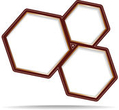 Hexagon vector banner Royalty Free Stock Photos