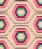 Hexagon-Vektor-nahtloses Muster Lizenzfreie Stockfotos