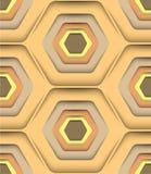 Hexagon-Vektor-nahtloses Muster Stockbild