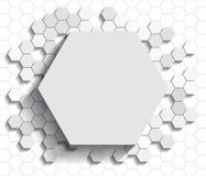 Hexagon vlakke achtergrond vector illustratie