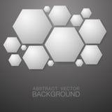 hexagon vorm abstracte achtergrond Stock Afbeeldingen