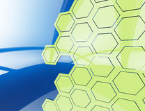 Hexagon wallpaper background for cover design 3d render Stock Photography