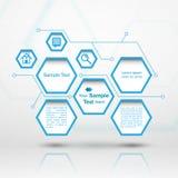 Hexagon Webontwerp Royalty-vrije Stock Foto
