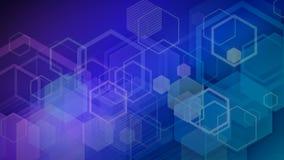 Hexagon-Wissenschaft und Technik-Schleife vektor abbildung