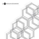 Hexagonaal bedrijfspatroon Wetenschappelijk medisch onderzoek Het rooster van de zeshoekenstructuur Geometrische abstracte achter vector illustratie