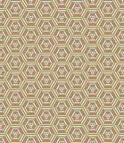 Hexagonaal geometrisch naadloos patroon royalty-vrije illustratie