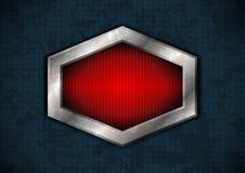 Hexagonaal metaalkader Stock Afbeelding