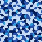 Hexagonaal militair naadloos patroon Stock Fotografie