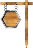 Hexagonaal Teken met Ketting en Pool royalty-vrije illustratie