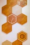 Hexagonaal van het tegelmozaïek ontwerp als achtergrond Stock Afbeelding