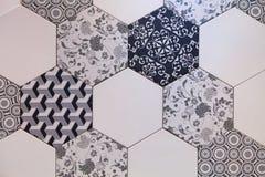 Hexagonaal van het tegelmozaïek ontwerp als achtergrond Stock Fotografie