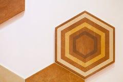 Hexagonaal van het tegelmozaïek ontwerp als achtergrond Royalty-vrije Stock Foto's