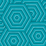 Hexagonal abstract Aboriginal line painting. In  format Royalty Free Stock Photography